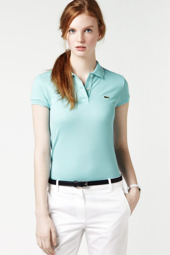 Lacoste becoming a leader in womens polo shirts for Simply for sports brand t shirts